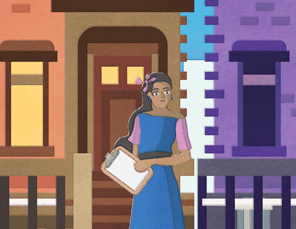 PI trans woman doorknocking